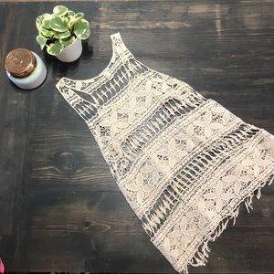 ✨Forever 21 crochet lace tank tunic sz L